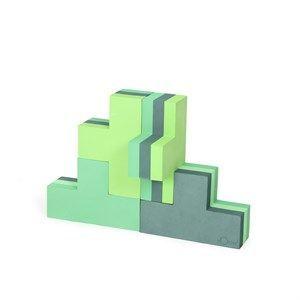 Image of   bObles byggeblok - building blocks i multi grøn