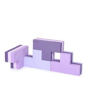 Image of   bObles byggeblok - building blocks i multi lilla