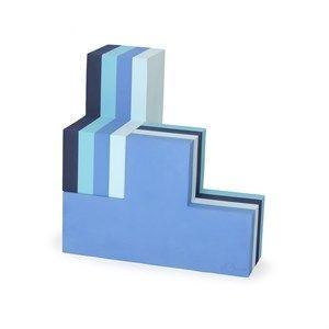 Image of   bObles byggeblok - building blocks large i multi blå