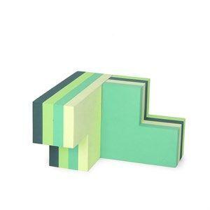 Image of   bObles byggeblok - building blocks large i multi grøn