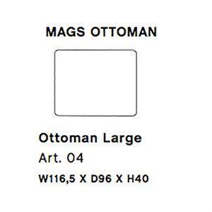 Image of   HAY - Mags modul sofa - Ottoman large modul - Art. 04
