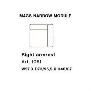 Image of   HAY - Mags modul sofa - Smal højre hjørnemodul - Art. 1061