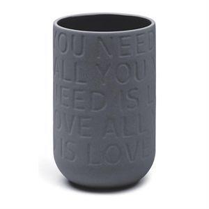 Kähler - Love song vase - grå (højde 17 cm)