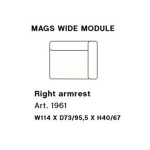 Image of   HAY - Mags modul sofa - Bred højre hjørnemodul - Art. 1961