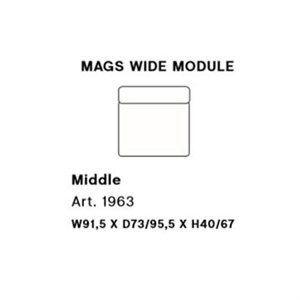 Image of   HAY - Mags modul sofa - Bred midter modul - Art. 1963