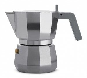 Image of   Alessi - Espresso kaffemaskine, 3 kopper - Grå