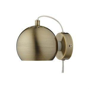 Image of   Frandsen Lighting Ball væglampe i antique brass/mat - m. transparent ledning
