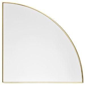 Image of   AYTM - Unity kvart cirkel spejl - Guld