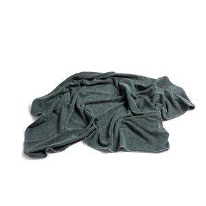 Image of   HAY - Frotté Badehåndklæde - Mørkegrøn