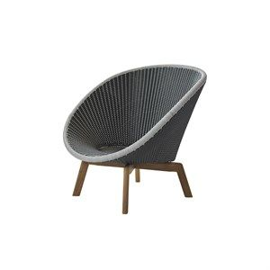 Image of   Cane-line - Peacock lounge stol m/ teak ben
