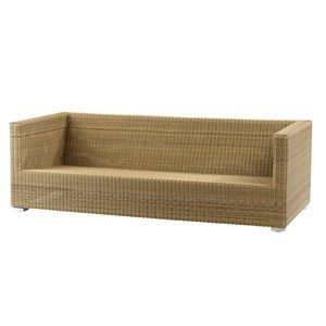 Image of   Cane-line - Chester 3 pers. lounge sofa - Natur