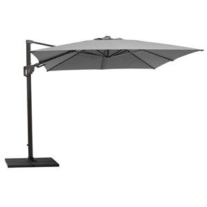 Image of   Cane-line - Parasol - Hyde luxe tilt, 3x3 m. inkl. fod - Antracit
