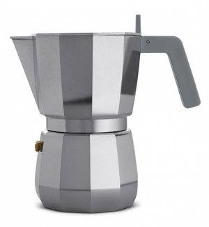 Image of   Alessi - Espresso kaffemaskine, 6 kopper - Grå