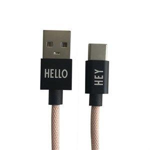 Image of   Design Letters - Oplader kabel - USBC - Nude