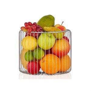 Billede af Blomus frugtkurv - Estra frugtkurv - Rustfrit stål (H20 cm)