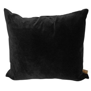 Image of   Skriver Collection - Velour pude - Sort - 65x65 cm
