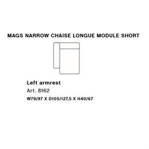 Image of   HAY - Mags modul sofa - Smal venstre chaiselong modul - Art. 8162