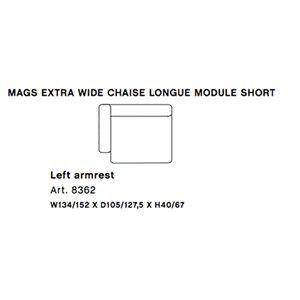 Image of   HAY - Mags modul sofa - Ekstra bred venstre chaiselong modul - Art. 8362