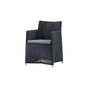 Image of   Cane-line - Diamond stol inkl. grå Sunbrella hynde