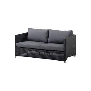 Image of   Cane-line - Diamond 2 pers. sofa inkl. grå Sunbrella hynde