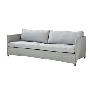 Image of   Cane-line - Diamond 3 pers. sofa inkl. Sunbrella hyndesæt