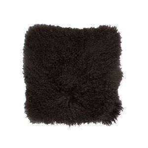 Image of   Au Maison - Pude - Tibetansk pels - Mørkebrun