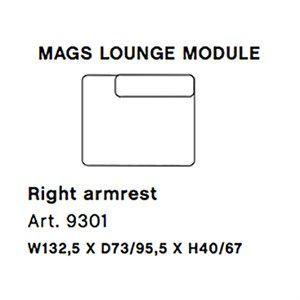 Image of   HAY - Mags modul sofa - Højre lounge modul - Art. 9301