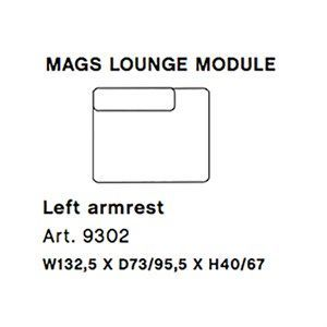 Image of   HAY - Mags modul sofa - Venstre lounge modul - Art. 9302