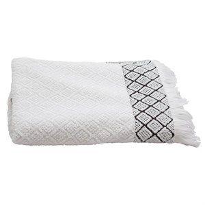 Image of   Au Maison håndklæde - Soft tiles håndklæde i hvid 70x140