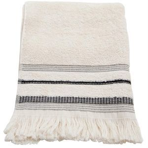 Image of   Au Maison håndklæde - Soft stripe creme (50 x 100)