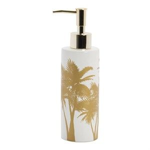 Image of   Au Maison - Dispenser - white/gold-Palm
