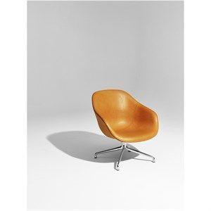 Image of   HAY loungestol - AAL81 læder/aluminium - brun læder