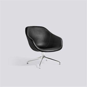 Image of   HAY loungestol - AAL81 læder/aluminium - sort læder