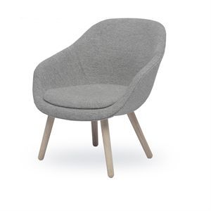 Image of   Hay - About A Lounge Chair Low - Grå (Steelcut Trio), leveres med hynde