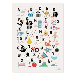 Image of   KAI Copenhagen - Plakat ABC - 30x40 cm.