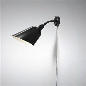 Image of   &tradition - Bellevue væglampe(Arne Jacobsen) - AJ4 i sort