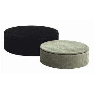 Image of   Au Maison - Opbevaringsbox - Box Suede - Black/Forest Green