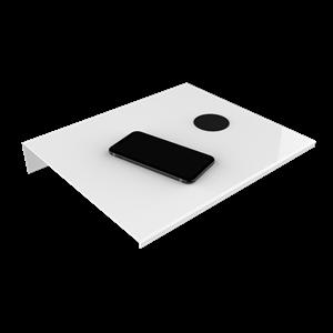 Billede af Alufit - Sengebord med wireless oplader hvid, højrevendt