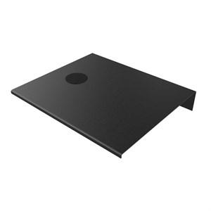 Billede af Alufit - Sengebord med wireless oplader sort, venstrevendt