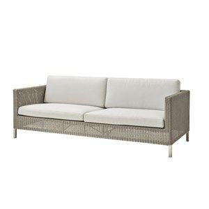 Image of   Cane-line - Connect 3 pers. sofa - inklusiv hynder (hvide eller brune)