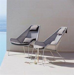 Image of   Cane-line - Breeze hyndesæt taupe til highback stol