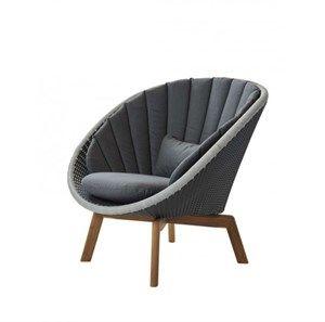 Image of   Cane-line - Peacock lounge stol, hyndesæt 3. stk. grå