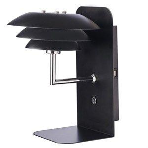 Image of   Dyberg Larsen - DL20 USB Hylde inkl. Lampe - Sort