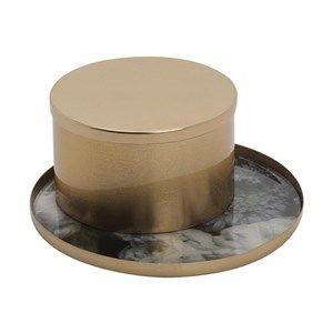 Image of   Au Maison - Dekorations-bakke og æske - Peony/Gold