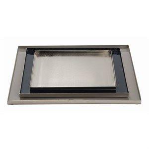 Image of   Au Maison - Dekorationsbakker - Toffee/Blue Graphite/Silver - Sølv ramme