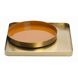 Image of   Au Maison - Dekorationsbakker - Gold/Cayenne - Guld ramme