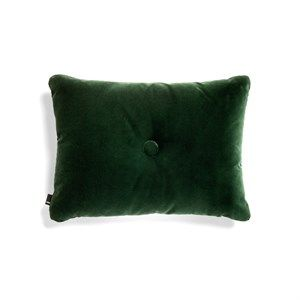 Image of   HAY - Pude - Dot Cushion Soft - Velour - Dark Green
