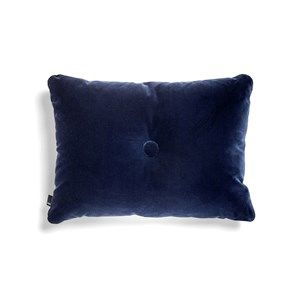 Image of   HAY - Pude - Dot Cushion Soft - Velour - Navy