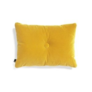 Image of   HAY - Pude - Dot Cushion Soft - Velour - Yellow