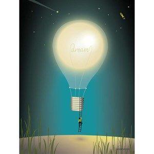 Image of   VISSEVASSE plakat - Dreaming - 30x40 cm